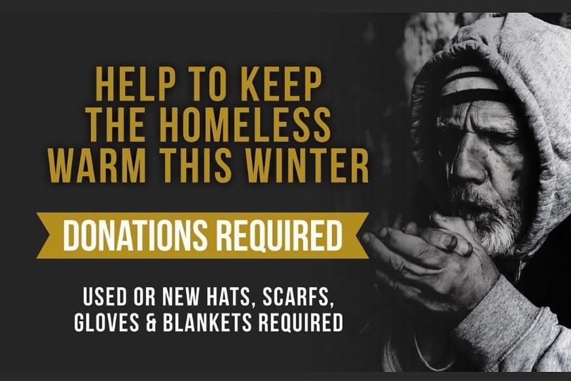 Street Works, Homeless, Donations Needed, McGills Hairdressing, Edinburgh