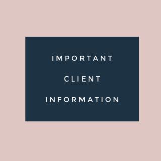 Important Client Information