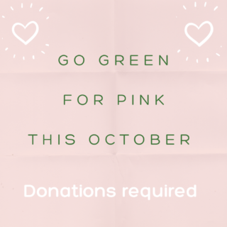 Go Green For Pink This October